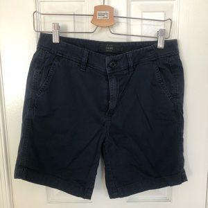 """J Crew 7"""" Navy Chino Shorts"""